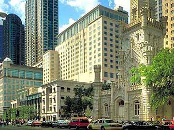 Exterior View of The Peninsula Chicago Hotel